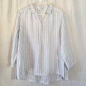 AYR Linen Long Sleeve Lightweight Oversized Tunic